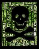 säkerhet för datorhacker Royaltyfri Fotografi