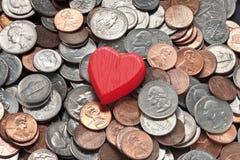 Säkerhet för förälskelsepengarlycka Arkivbilder