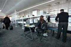 säkerhet för flygplatskontrollport Royaltyfri Fotografi