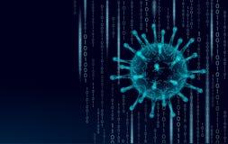 Säkerhet för internet 3D för virus mjuk Personlig antivirus för programvara för datasäkerhetsdatornät Varning för programkoden ha royaltyfri illustrationer
