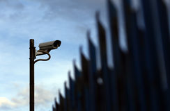 säkerhet för kameracopyspace alldeles Arkivbilder