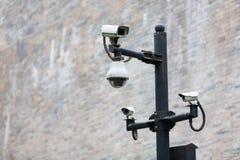 säkerhet för kameracopyspace alldeles Arkivbild