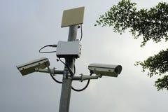 säkerhet för kameracopyspace alldeles Arkivfoto