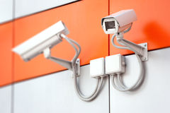 säkerhet för kameracopyspace alldeles Royaltyfria Bilder