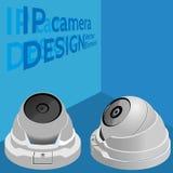 säkerhet för kameracopyspace alldeles Rengöringsduk-/bevakningkamera Royaltyfri Fotografi