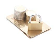 säkerhet för kortkrediteringsbetalning Royaltyfri Bild