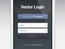 Säkerhet för lösenordet för rengöringsduksidainloggningen avskärmer Arkivbilder