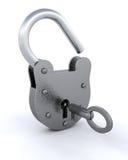 säkerhet för padlock 3d Arkivbilder