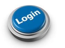 säkerhet för push för knappbegreppsinloggning Arkivbild