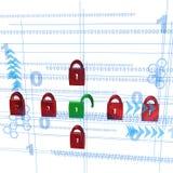 Säkerhet illustration 3D vektor illustrationer