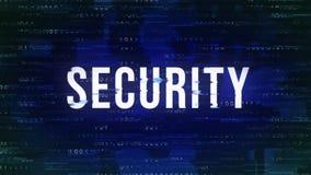 Säkerhet - livlig modeord för tekniskt fel med binärt i bakgrunden arkivbilder