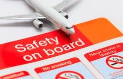 Säkerhet ombord Arkivfoton