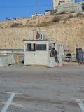 Säkerhet på gränsen mellan Jordanien och Jerusalem Royaltyfri Bild
