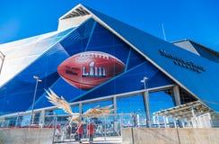 Säkerhet på platsen av Super Bowl LIII arkivfoton