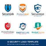 Säkerhet - skydd Logo Template Design Vector Royaltyfria Bilder