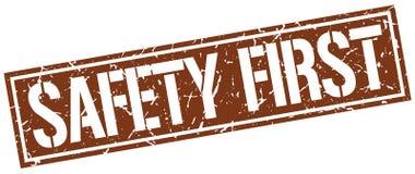 Säkerhet stämplar först stock illustrationer
