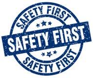 Säkerhet stämplar först royaltyfri illustrationer