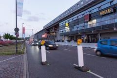 Säkerhetsåtgärder och polisstyrning under Kieleren Woche 2017 Arkivbilder