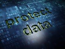 Säkerhetsbegrepp: Skydda data på digital skärmbakgrund Royaltyfri Foto