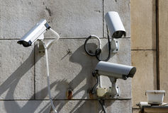 Säkerhetsbevakningkameror Royaltyfri Bild