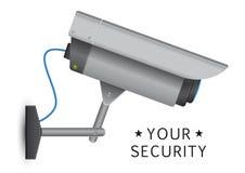 Säkerhetscctv-kamera royaltyfri illustrationer