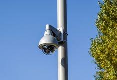 SäkerhetsCCTV-kamera i regeringsställning som bygger royaltyfria bilder