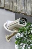 SäkerhetsCCTV-kamera och stads- video Royaltyfri Bild