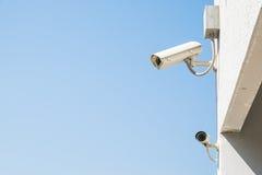 Säkerhetscctv-kameror Arkivfoton