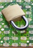 Säkerhetsdatatekniklås Arkivbild