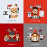 Säkerhetsdesignbegrepp vektor illustrationer