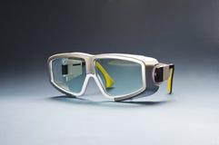 Säkerhetsexponeringsglas för laser-bruk Arkivbild