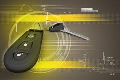 Säkerhetsfjärrkontroll för din bil Arkivbild
