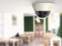 säkerhetskamera för tolkning 3d eller cctv-kamera Arkivbild