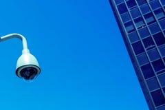 Säkerhetskamera och stads- video Royaltyfri Fotografi