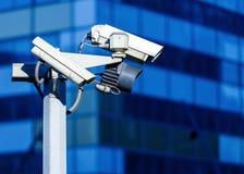 Säkerhetskamera och stads- video Fotografering för Bildbyråer