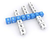 Säkerhetskorsord Arkivfoton
