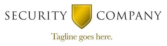 säkerhetsmall för 4 logo Royaltyfri Fotografi