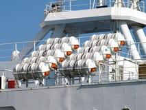 Säkerhetsmappar på ett skepp Arkivfoton