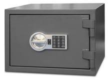 Säkerhetsmetallkassaskåp med digital kod royaltyfria bilder