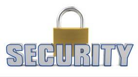 Säkerhetspadlock Arkivbild