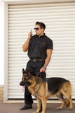 Säkerhetspatrullerande polis Royaltyfri Fotografi