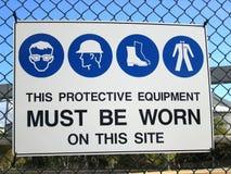 säkerhetstecken Fotografering för Bildbyråer