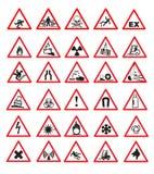 säkerhetstecken stock illustrationer