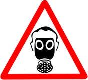 Säkerhetstecken, tecken för anställningstrygghet för maskering för skydd för kläderdammgas Var säker att använda varning för damm Royaltyfri Bild