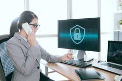 Säkerhetstjänstföretag för yrkesmässig information royaltyfria foton