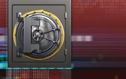 säkert kassaskåp för metall 3d Arkivbilder