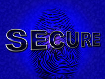 Säkert tillträde föreställer obehörig kryptering och skyddar Royaltyfria Foton