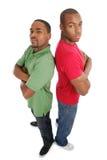 säkra män två barn Royaltyfria Bilder