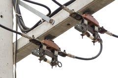 Säkringar och hög spänning för kabel Fotografering för Bildbyråer