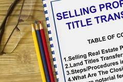 Sälja egenskapsmoment och tillvägagångssätt royaltyfria bilder